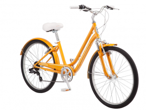 7-Speed Schwinn Suburban Comfort Hybrid Bike-Orange