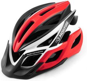 MOKFIRE Adult Bike Helmet - best bike helmet with LED lights